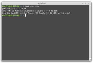 Проверка версии Java  в Linux Mint 16